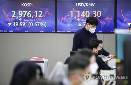 Seoul stocks down for 4th day on inflation concerns