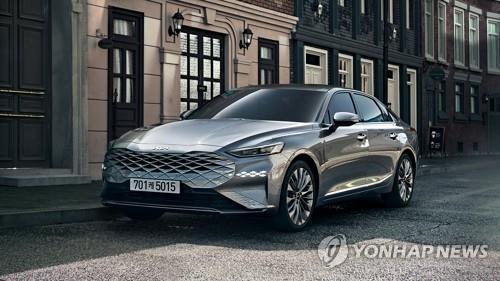 Kia launches K8 sedan, 1st model under new brand logo
