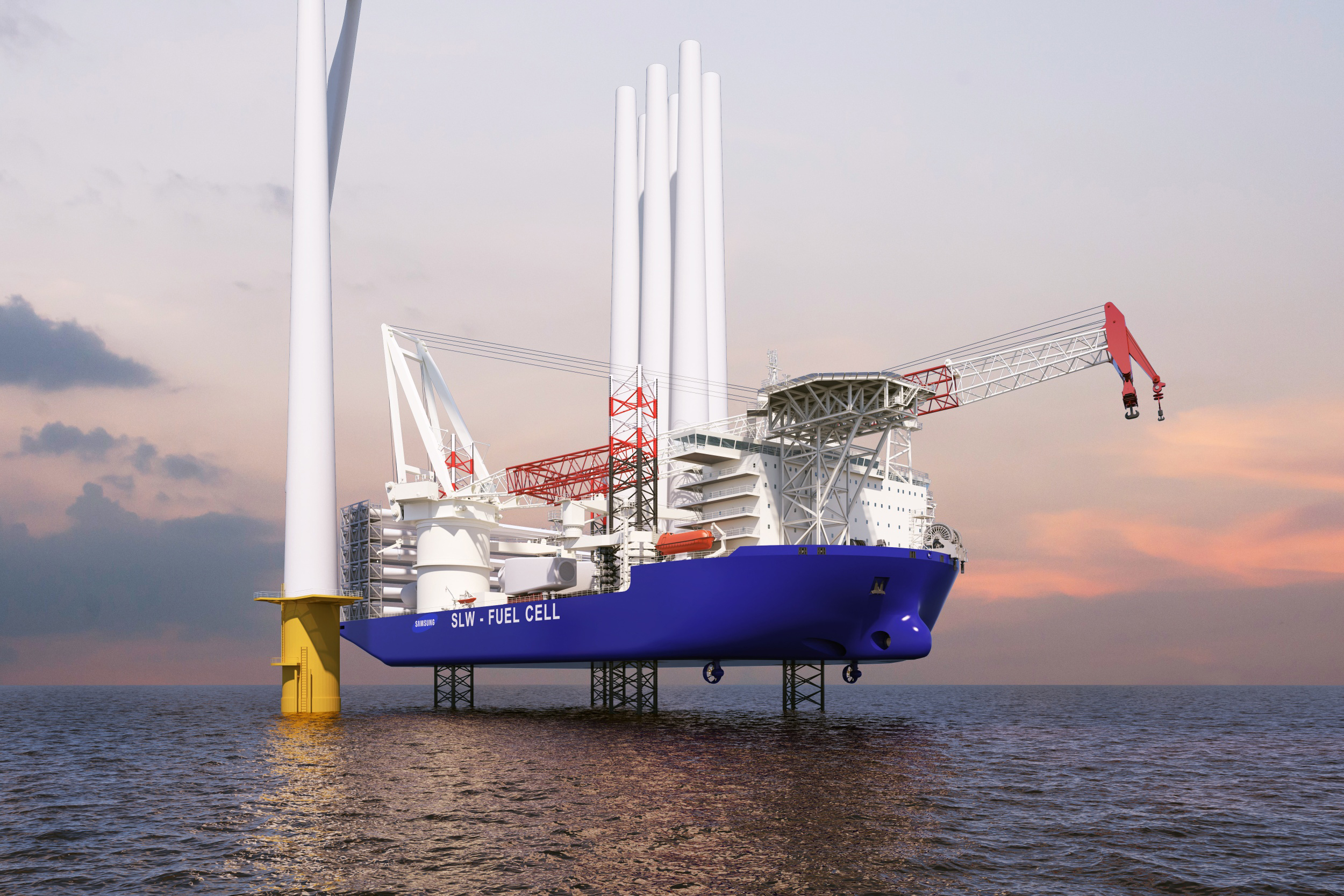 Samsung Heavy wins certificates for wind turbine installation vessel